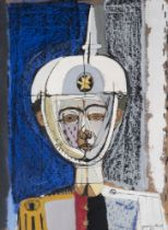 """JOSEP GARCÍA LLORT (Barcelona, 1921-2003). """"Soldier"""", 1959. Oil on cardboard. Signed and dated in"""