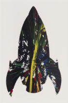 """DAMIEN HIRST (Bristol, UK, 1965). """"Rocket"""", 2009. Acrylic on paper, sping painting. Features"""