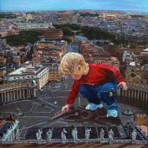"JOSÉ MARÍA MADRID SANZ (Madrid, 1957). ""Great crossing"". Oil on canvas. Signed. Measurements: 100"