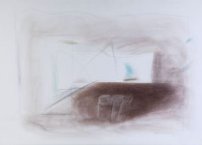 """ALBERT RÀFOLS CASAMADA (Barcelona, 1923-2009). """"Matin"""", 1993. Pastel and pencil on paper. Signed and"""