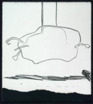 JOSEP GUINOVART BERTRAN (Barcelona, 1927 - 2007). Untitled, 1969. Wax on paper. Signed and dated