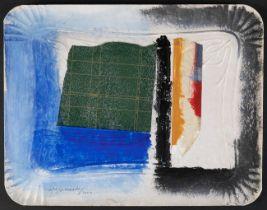 "ALBERT RÀFOLS CASAMADA (Barcelona, 1923 - 2009). ""Safata"", 2000. Painting and collage on cardboard"