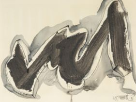WOLF VOSTELL (Leverkusen, Germany 1932 - Berlin, 1998). Untitled, 1990. Mixed media on paper. Signed