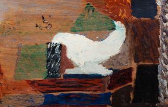 """FERNAND DUBUIS (Sion, Switzerland, 1908 - 1991). """"Etude de tableau"""", 1951. Oil on cardboard. Signed,"""