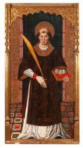 "Catalan school of the second half of the fifteenth century. ""St. Stephen"", ca. 1480. Tempera"