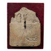 Sundial; Galician work; XVII century - XVIII century. Stone. It presents faults due to the passage