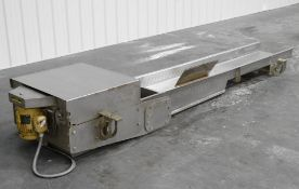 "PPM Slide Vibratory Conveyor 18"" W x 96"" L x 5"" H"