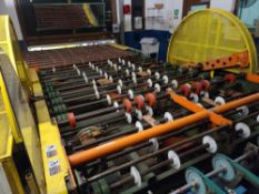 Powered Roller Conveyor with 90 Degree Transfer