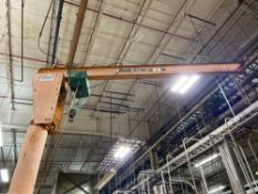 Anderson Ruffra Swing Arm Crane with 1/2 Ton Hoist