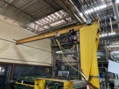 KoneCranes Swing Arm Crane with 1/2 Ton Hoist