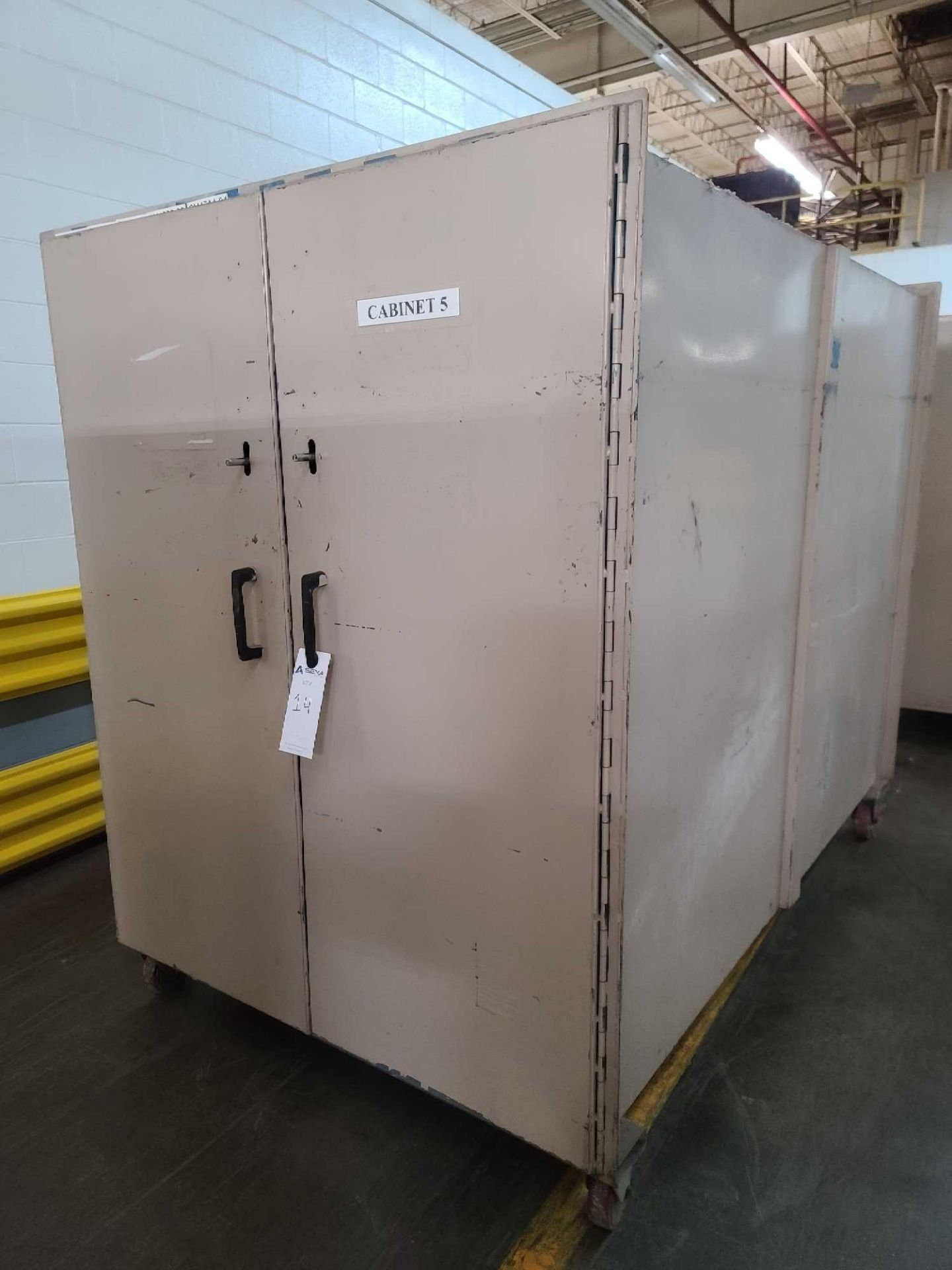 Mobile Storage Cabinet with Contents