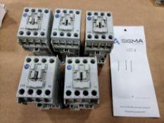 (5) Allen-Bradley 100-C09Z*10 Series A Contactors