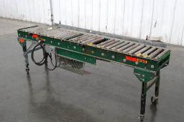 """Rapistan 96"""" L x 15"""" W V-Belt Live Roller Conveyor"""