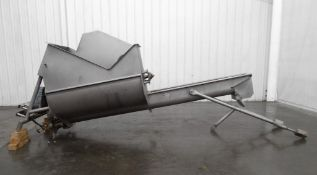 Screw Auger Conveyor with Stainless Hopper