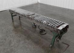 "Hytrol 18"" W x 96"" L V-Belt Roller Conveyor"