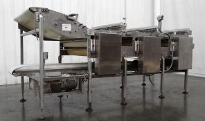 """145"""" L x 48"""" W Flipper Stacker and Laning Conveyor"""