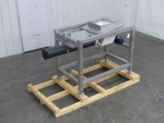 "Stainless Steel 6"" Wide Auger Conveyor"