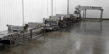 Rheon V4 Dough Sheeting Line with Stress-Free Dough Rollers
