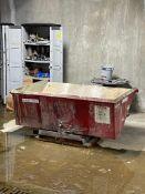Red Self-Dumping Hopper 70 Cubic Feet