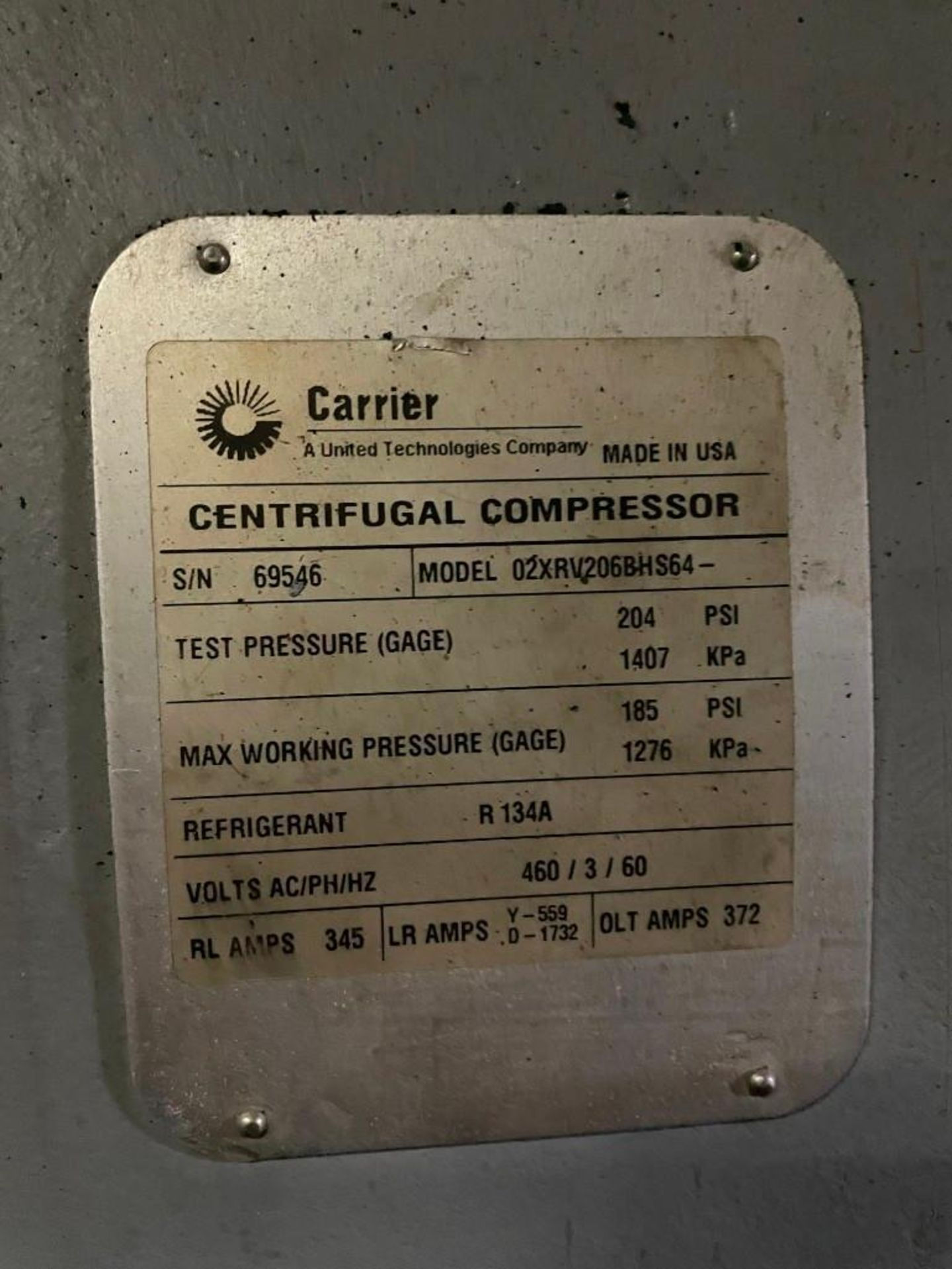 Carrier Aqua Edge 19XRV Water Chiller with Centrifugal Compressor - Image 9 of 9