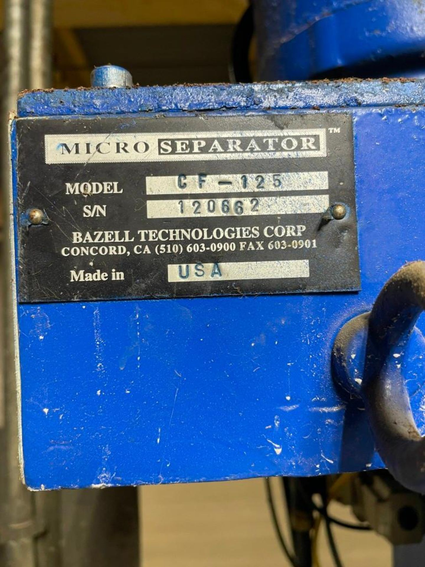 Micro Separator CF-125 Centrifugal Separator - Image 7 of 8