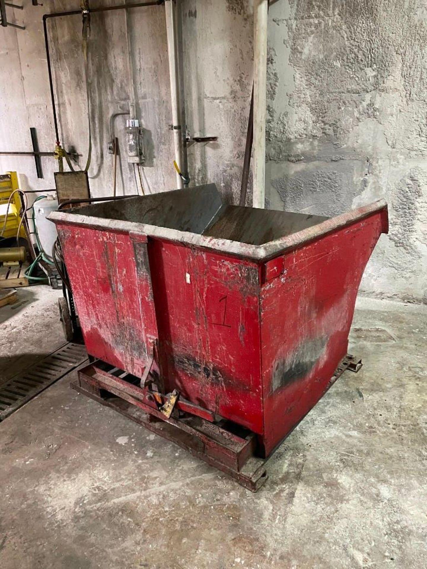 Red Self-Dumping Hopper 95 Cubic Feet - Image 2 of 4