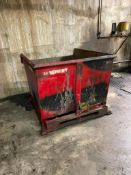 Red Self-Dumping Hopper 95 Cubic Feet
