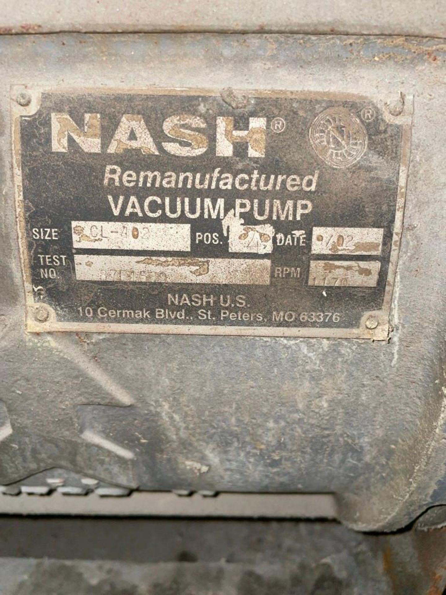 Nash CL-402 30 Horsepower Vacuum Pump - Image 6 of 6