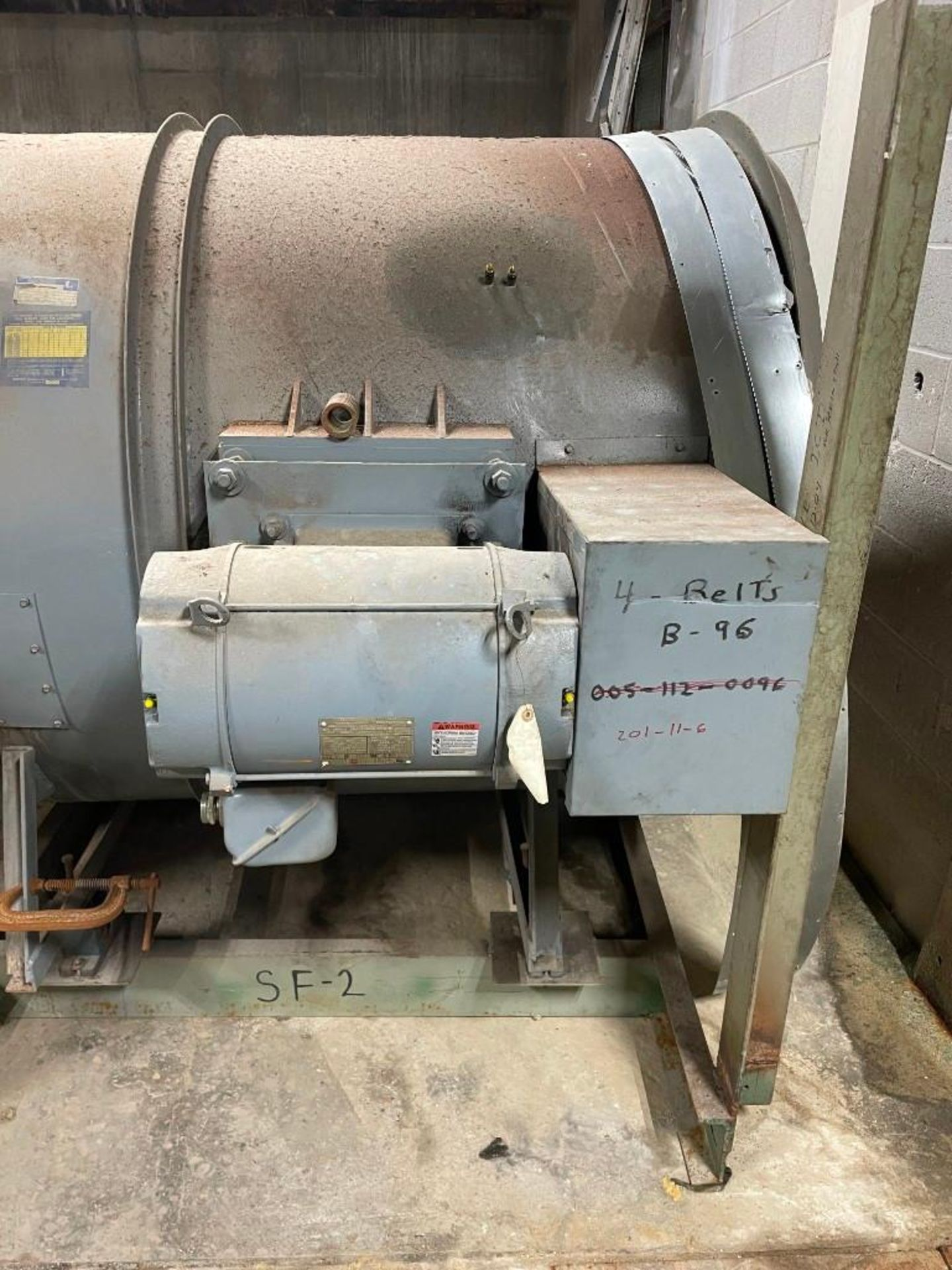 Loren Cook Blower with 20 Horsepower Motor - Image 5 of 7