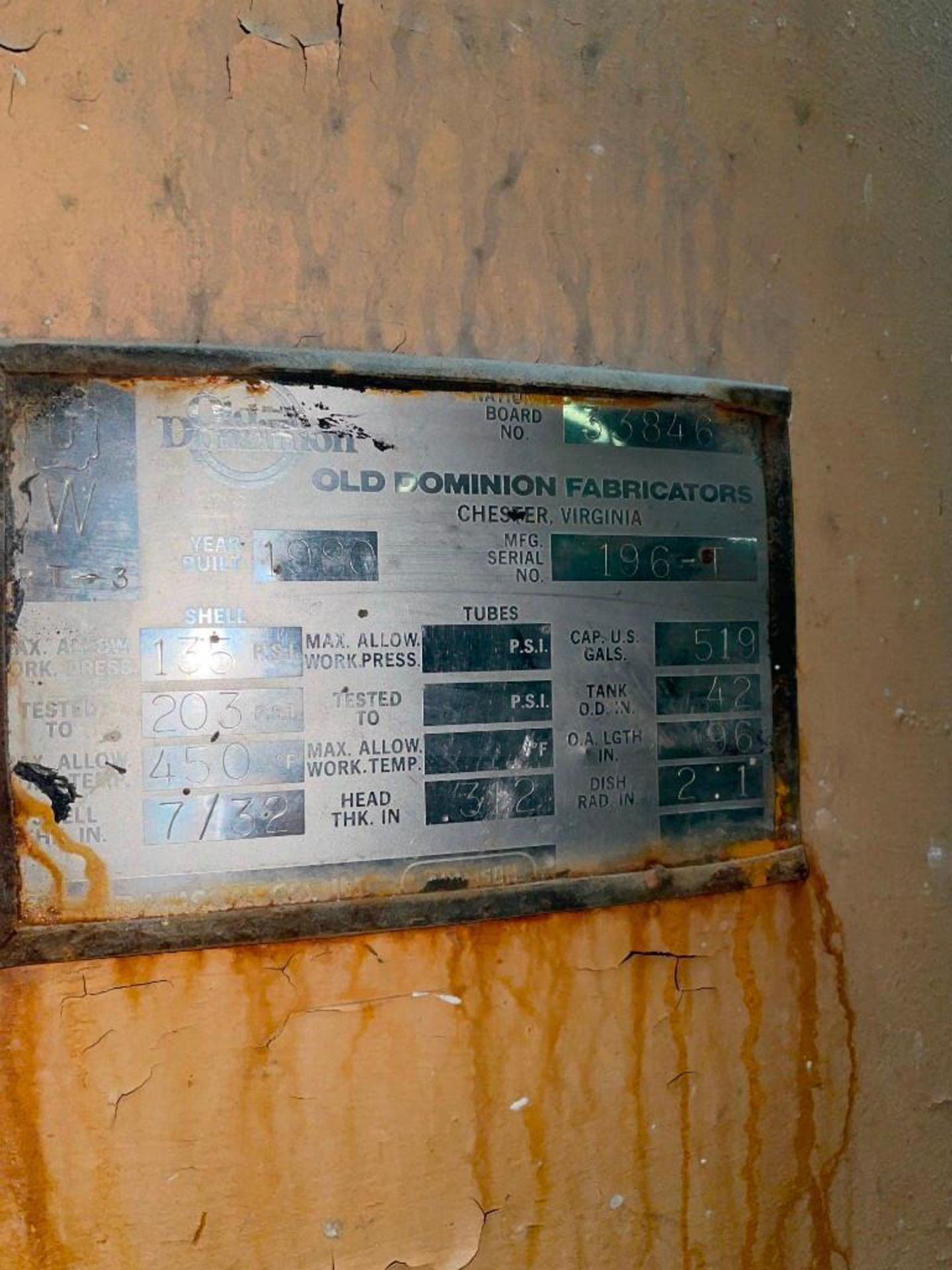 Old Dominion Compressed Air Surge Tank - Image 5 of 5