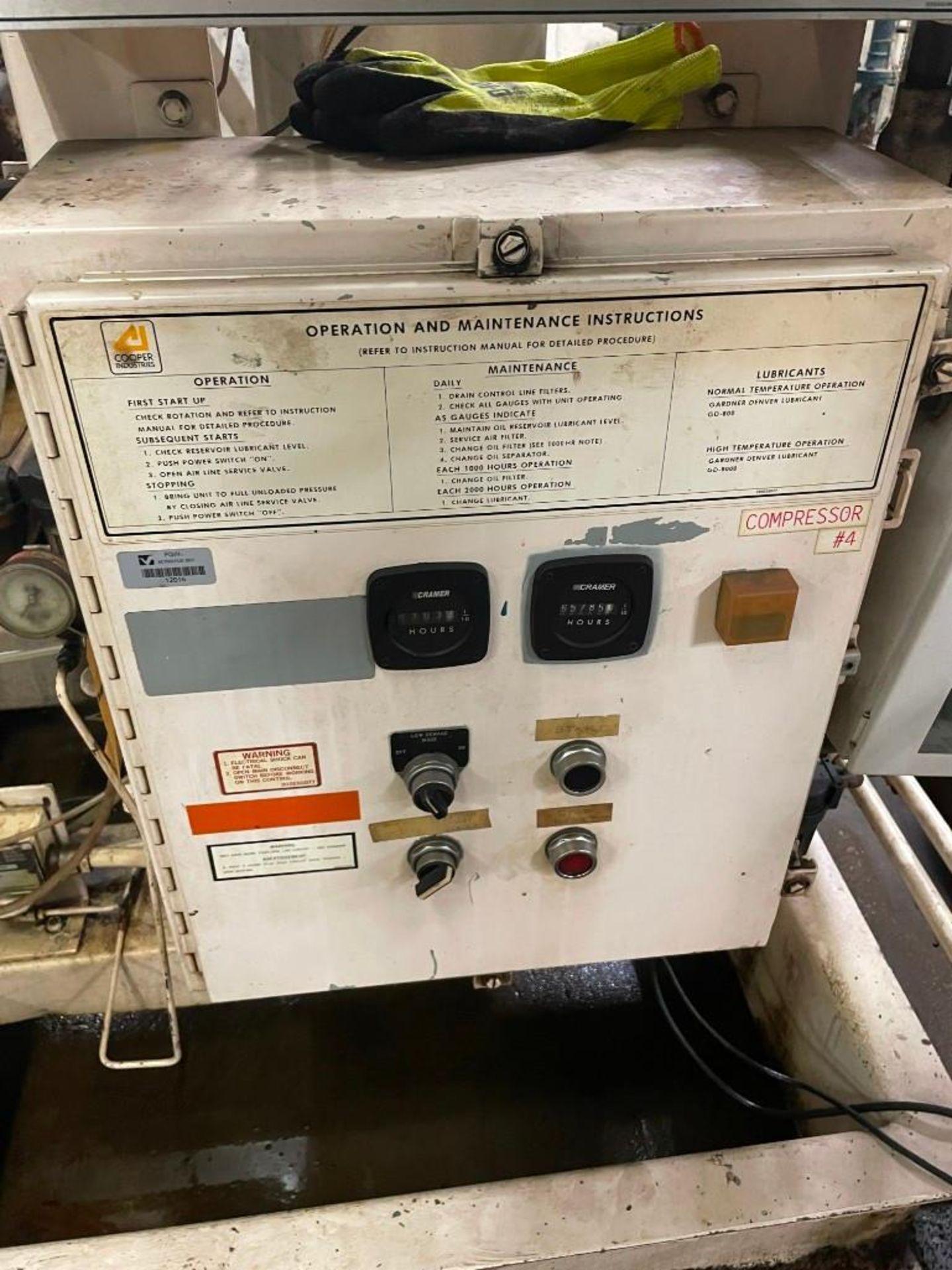 Gardner Denver Air Compressor 200 HP Motor - Image 8 of 12