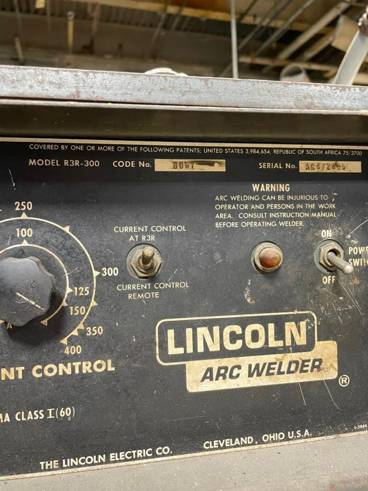 Lincoln Electric Idealarc R3R-300 DC Arc Welder - Image 5 of 5