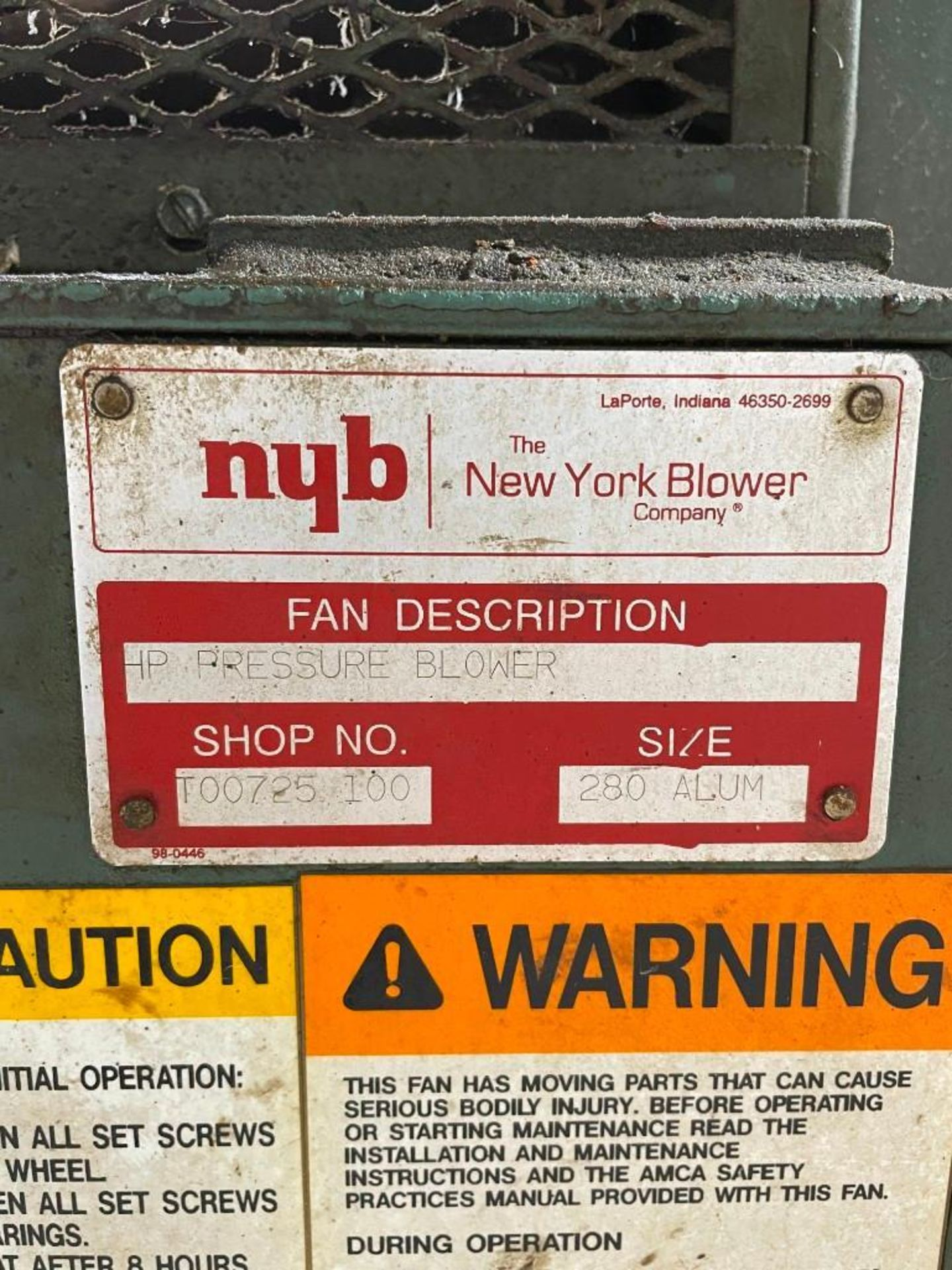 New York 60 Horsepower Blower with Filter - Image 11 of 11