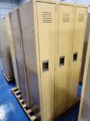 (9) Medart Single Tier Lockers