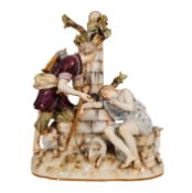 Meissen Model 1290 Figur Hirte am Brunnen mit Frau