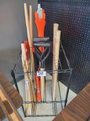 Lot of Assorted axes, shovel etc. handles