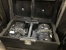 LOT OF: (1) ATLANTA RIGGING SYSTEMS LODESTAR ELECTRIC CHAIN HOISTS RATED FOR 2 TON AND (1) HOIST RAT
