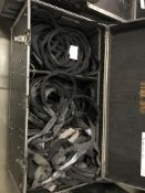 (1) ROLLING BOX OF MISC. LENGTH AND SIZE HOIST SLINGS