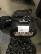 (1) ATLANTA RIGGING SYSTEMS LODESTAR ELECTRIC CHAIN HOIST RATED FOR 1 TON W/ 60' OF CHAIN