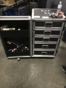5 DRAWER ROLLING TOOL BOX W/ TOOLS INSIDE (SEE PICTURES)
