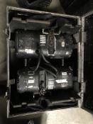 LOT OF: (2) ATLANTA RIGGING SYSTEMS LODESTAR ELECTRIC CHAIN HOISTS RATED FOR 1/2 TON W/ 60' OF CHAIN