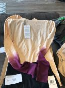 WOMEN'S EXERCISE OUTFIT, LEGGINGS AND LONGSLEEVE TOP, BOTH SIZE SMALL