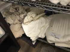 LOT OF: LINENS TO INCLUDE APPROX 24 HAND TOWELS, SHEETS, PILLOWCASES, (2) ELECTRIC BLANKETS