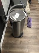 FOOT-OPEN SILVER TRASH CAN