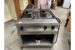 Vmax Double Clam Grill, On Wheels,