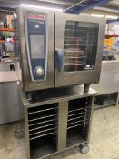 Rational White Efficiency 6 Grid Combi Steamer on Stand