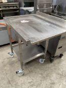 Dishwasher Table on Wheels