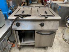 Mareno Double Tank Twin Basket Gas Fryer