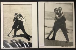 SIGNED BLACK & WHITE PHOTOGRAPHS OF A TANGO DANCERS BY GABRIELA FABROWSKA HANDMADE LITHIUM PRINTS