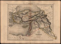 OLD MAP OF TURKEY IN ASIA BY J. ARCHER
